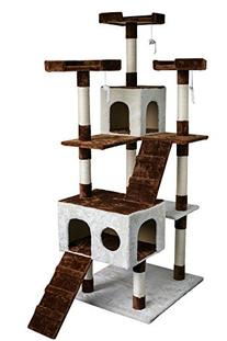 Carb-certified Merax Cat Tree Cat Tower House with Condo