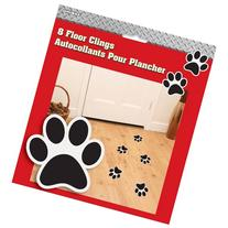 Firefighter Birthday Dalmatian Paw Print Floor Clings, 8ct