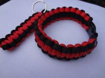 Firefighter Thin Red Line Black and Red Paracord Bracelet