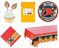 Fireman Firefighter Hero Birthday Party Tableware