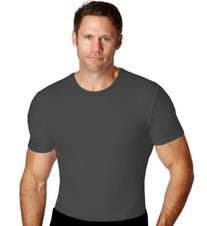 3 Pack Insta Slim Mens Firming Compression Crew Neck Shirt