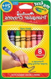 CYO811308 - Crayola My First Triangular Crayons - 8 ct