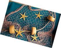 10 X 9 Fishing Net, Fish Net, Netting,Rope, Starfish, Floats