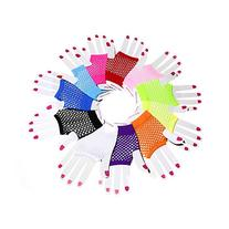 Viskey Short Fishnet Gloves Pack of 12 Pairs,Assorte Colors