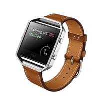 Fitbit Blaze Accessory Band, HP95 Luxury PU Leather Watch