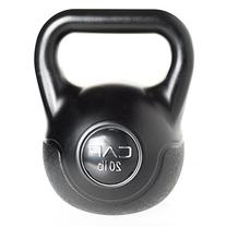 Cap Barbell Fitness Kettlebell Black, 20-Pound