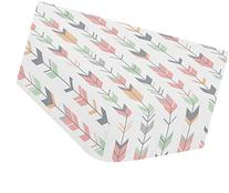 Sweet Jojo Designs Fitted Crib Sheet for Grey, Coral and