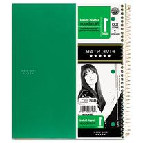 Five-Star Wirebound 1-Subject 2-Pocket Notebook w/Q4 Rule,
