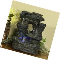 Sunnydaze Five Stream Rock Cavern Tabletop Fountain with