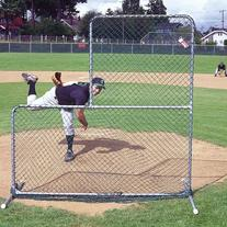 Jugs Sports Fixed-Frame L-Shaped Pitcher's Screen