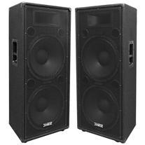 "Seismic Audio - FL-155PC - Pair of Dual Premium 15"" PA/DJ"