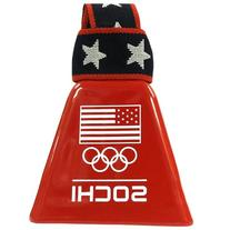 Flag/Rings/Sochi Red Cowbell: Officially Licensed US Olympic
