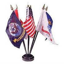 Flag Stand for 6 Flags Black