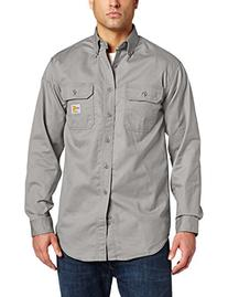 Carhartt Men's Flame Resistant Classic Twill Shirt,Gray,