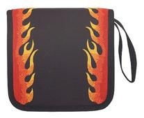Flames CD DVD Blu Ray Disc Holder for Easy CD Storage Red
