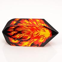 FLAMES SLIM SHAPED POLY METRONIC DARTS FLIGHTS
