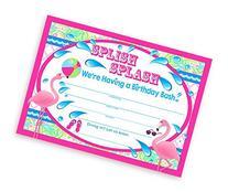 Flamingo Party LARGE Invitations - 10 Invitations 10