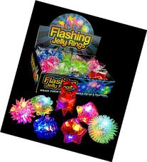 Fun Central AC809 LED Flashing Jelly Rings - Assorted Styles