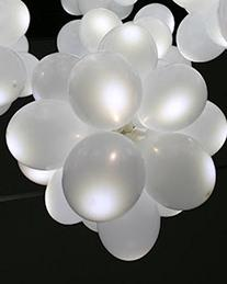 ETHAHE Flashing Light up LED Balloons Party Wedding White 15