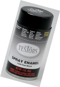 Flat Black Spray Testors Enamel Plastic Model Paint