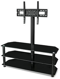 Mount-It! - TV Center Stand - With Mount and Glass Shelves