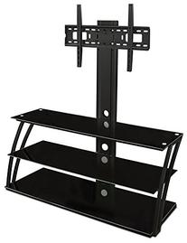 Mount-It! TV Stand with Mount and Storage Shelves,
