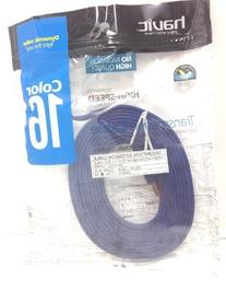 Flat USB Male to USB Female Extension Cable 10ft  Dark Blue