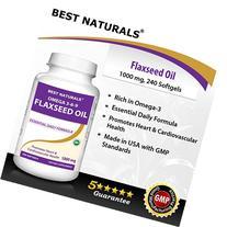 Best Naturals Flaxseed Oil 1000 mg 240 Softgels