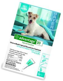Advantage Flea Killer for Dogs, TEAL, 11-20LBS. 4 Month