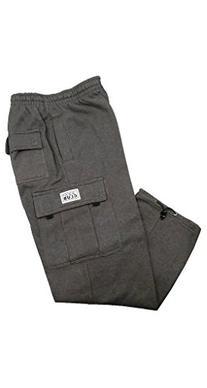 Pro Club Fleece Cargo Sweatpants 13.0oz 60/40 Large Charcoal