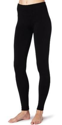 K. Bell Socks Women's Fleece Lined Legging, Black, Small/