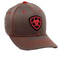 Ariat Men's Flex Fit Hat, Gray, Large/X-Large