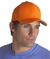Yupoong Adult Flexfit Wooly Combed-Twill Cap - Orange, L/XL
