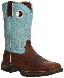 """Durango Women's Flirt With Durango 10"""" Boot,Brown/Light Blue"""