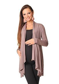 Maternity Floaty Waterfall Cardigan Shrug Jacket Top 4008