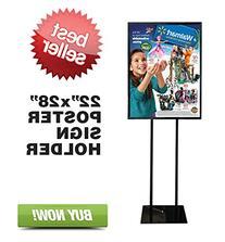 Signworld Floor Standing Poster Display Stand Sign Holder 22