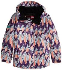 686 Girl's Flora Insulated Jacket, X-Small, Violet Ikat