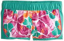 Roxy Big Girls' Floral Board Short, Dynasty Green, 7