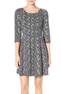Women's Taylor Dresses Floral Jacquard Fit & Flare Dress,