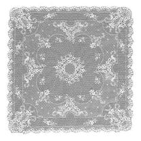 Heritage Lace Floret 36-Inch by 36-Inch Table Topper, White