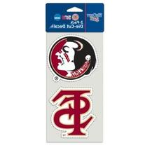 WinCraft Florida State Seminoles Set of 2 Die Cut Decals