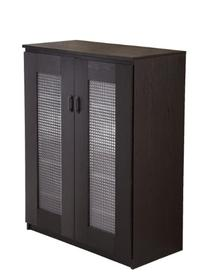 Florina Frosted Glass Front Shoe Cabinet