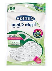 Dentek Floss Picks Triple Clean 90'S Bagged Mint