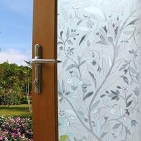 Coavas Flowers Static Cling Window Film Frosted Privacy