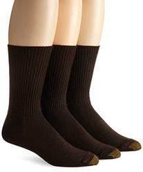 Gold Toe Men's Fluffies Casual Sock, Brown, 3-Pack , Size 6