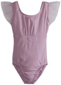 Danskin Little Girls' Flutter Sleeve Leotard, Lavender,