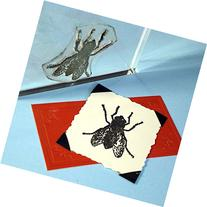 "Fly Stamp, clear polymer cling 1.5""x1.5"", includes storage"