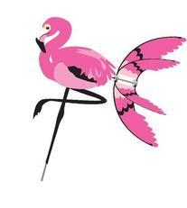 "Flying Flamingo 34"" x 35"" - diameter: 32in"