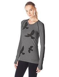 Oiselle Women's Flyte Long Sleeve Top, Black, Medium
