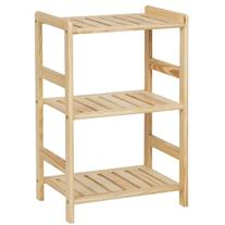 Furinno FNCJ-33011 Pine Solid Wood 3-Tier Storage